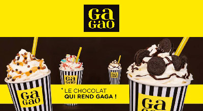 Affiche communication franchise coffee shop Gagao
