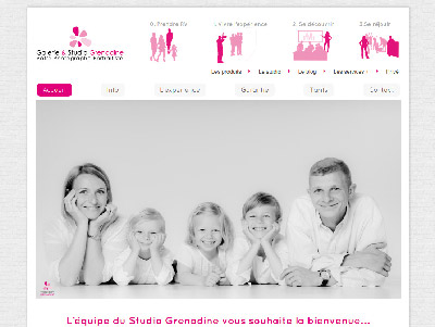 Capture du site web de la franchise studio photo Grenadine
